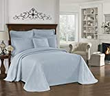 HIST CHARLESTON Bedspreads Coverlet King Charles Collection 100% Cotton Matelasse Bed Spread, Queen, Blue