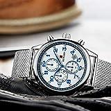 LLDKA Connaissez Business Watch Homme Quartz Acier Multifonctions Hommes, Horloge,...