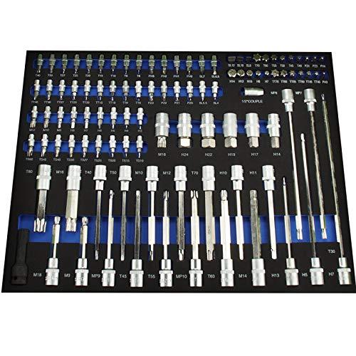 TrutzHolm® Werkstattwagen Premium XXL bestückt Profi-Werkzeug aus Chrom-Vanadium 7 Schubladen und ein Seitenfach gefüllt Assistent Werkzeugwagen - 4