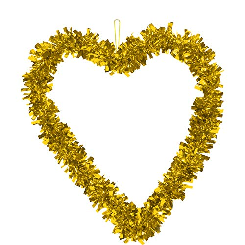 Janly Clearance Sale Valentine's Day Love Heart Shape Garland Wall Hanging Decoration Party Pendant , Home Decor for Easter Day (Gold)