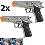 Best Cap Guns - LOT OF 2 - SILVER CAP GUN PISTOL Review