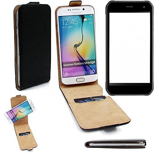K-S-Trade® Für Cyrus CS 40 Flipstyle Schutz Hülle 360° Smartphone Tasche, Schwarz, Case Flip Cover Für Cyrus CS 40