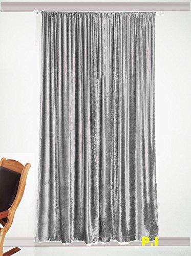 Kylie Minogue Iliana Designer Rideaux Velours à Œillets et 90x90 229 cm Argent