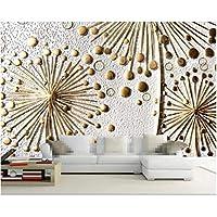 Iusasdz カスタム壁紙抽象的な救済ラジオ背景リビングルーム寝室ソファ背景壁3D壁紙-200X140Cm