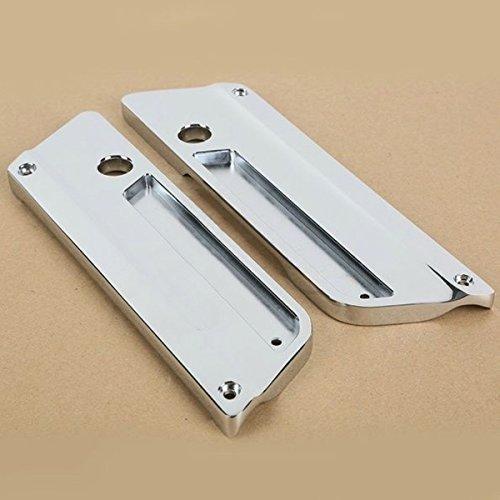 Price comparison product image Metal Chrome Saddlebag Latch Covers For Harley-Davidson TOUR HD Glide Saddle Bag