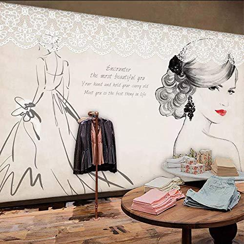 WGBHQ Zelfklevend behang, 3D-print, kunstdruk, fototent, schoonheidskleding, handbeschilderd, retro-slaapkamer, slaapkamer, restaurant, kantoor, kinderkamer, woonkamer, familiekamer (D) 250 x (H) 175 cm
