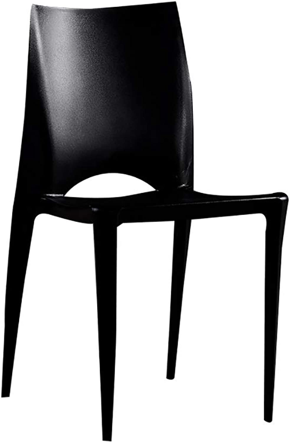 Dinette Modern Chair Simple Plastic Chair Office Padded Chair Home Chair Cafe Lounge Chair (color   Black)