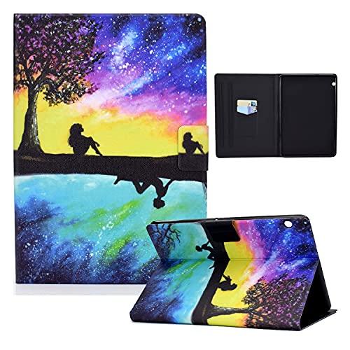 zl one Compatible con/Reemplazo para Tablet PC Huawei Mediapad T5 10 'PU Cuero Flip Cover Stand Magnetic Wallet Case (Cielo estrellado)