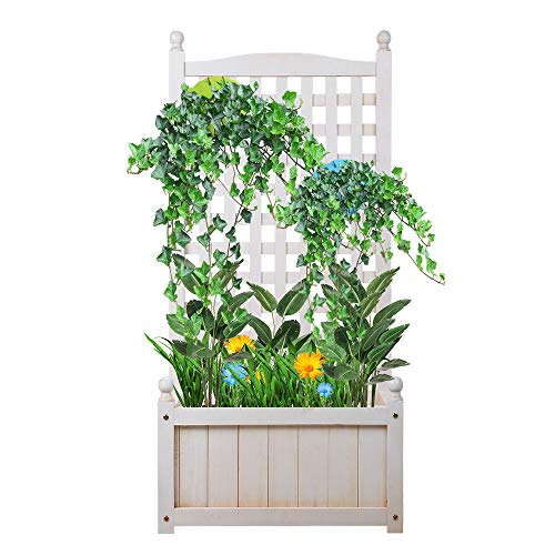 Raised Garden Beds Outdoor, Raised Garden Bed with Trellis, Garden Bed for Hanging Flower Baskets, Garden Boxes for Vegetables