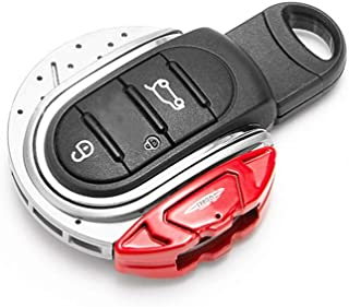 Miniclue Remote Fob ABS Key Cover Case Keychain for Mini Cooper ONE S JCW F54 F55 F56 F57 F60,Gross Grey and Red Calipers ...