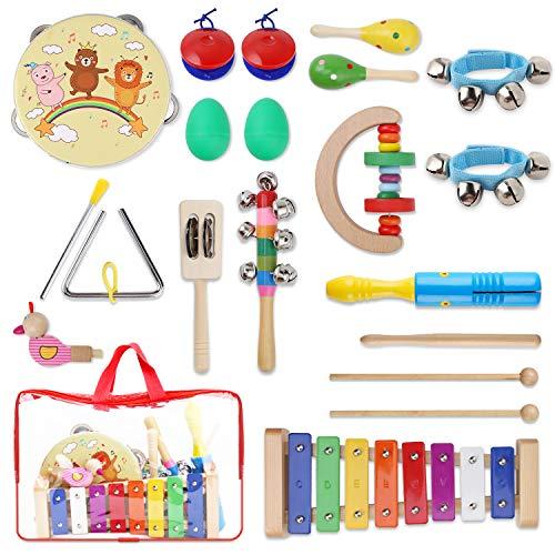 YISSVIC Juguetes de Instrumentos Musicales para Niños 20 Pzas, Juguetes Educativos para la Ilustración de la Música de los Niños