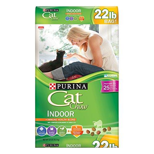 Purina Cat Chow Hairball, Healthy Weight, Indoor Dry Cat Food, Indoor - 22 lb. Bag