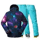 Traje de esquiar Los hombres de la nieve chaquetas y pantalones de deportes al aire libre Snowboard Traje Traje impermeable a prueba de viento 10k Esquí sistemas de la ropa masculina Ropa de nieve