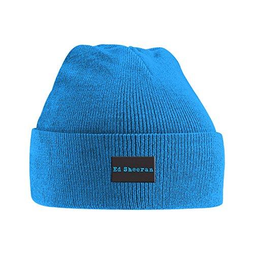 Ed Sheeran Mütze Beanie Logo Divide Nue offiziell Blau
