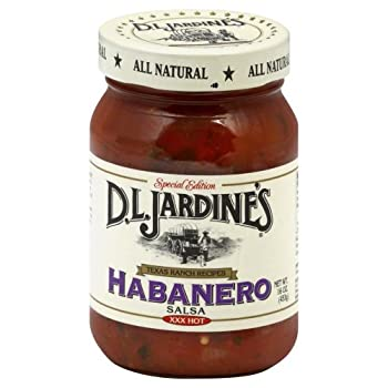 D.L Jardine s Habanero Salsa XXX Hot 16 oz Pack of 6