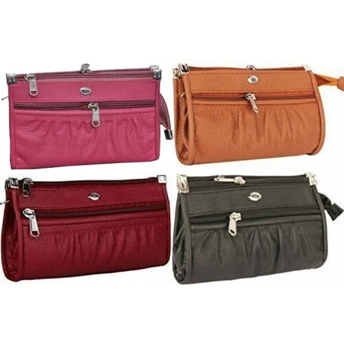 JSPM Premium PU Leather Women's And Girls Wallet Clutch Combo Offer Pack Of 4 (Pink+Mustard+Maroon+Black Color)