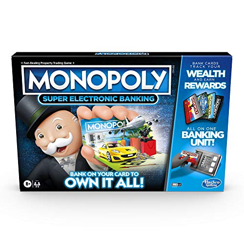 Monopoly Ultimate Belohnungs-Brettspiel; Elektronische Banking-Einheit; Wählen Sie Ihre Belohnungen; Cashless Gameplay; Tap Technology; ab 8 Jahren