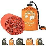 Backpacker's Journey Saco de dormir ultraligero e impermeable ideal para camping, senderismo y aventuras (juego de 2 unidades), color naranja