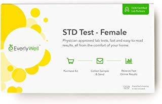 Everlywell Female STD Test - at Home - CLIA-Certified Adult Test - Discreet, Accurate Blood and Urine Analysis for 6 Commo...