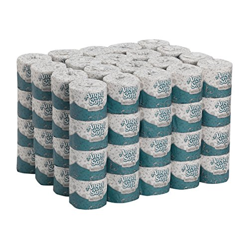 Angel Soft Professional Series Premium 2-Ply Embossed Toilet Paper by GP PRO (Georgia-Pacific), 16880, 450 Sheets Per Roll, 80 Rolls Per Case, White