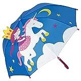 VON LILIENFELD® Paraguas Infantil Princesa con Unicornio Niños Niñas Ligeramente Estable...
