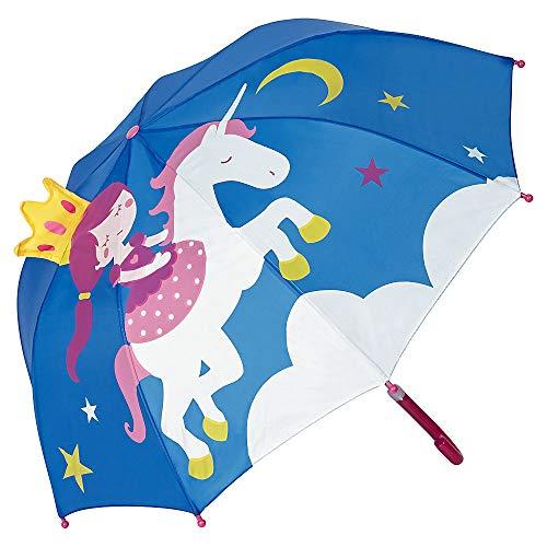 VON LILIENFELD® Paraguas Infantil Princesa con Unicornio Niños Niñas Ligeramente Estable Colorido Regalo hasta 8 años
