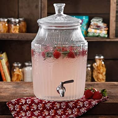 The Pioneer Woman Adeline 2.1-Gallon Glass Drink Dispenser   Stunning Drink Dispenser