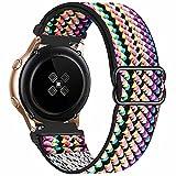 GBPOOT 20mm Correa Compatible con Samsung Galaxy Watch Active 2(40mm/44mm)/Watch 3 41mm/Watch 42mm/Gear S2,Reloj Ajustable de Repuesto Deporte Strap,Pulsera Nylon Banda,Colorful,20mm