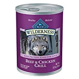 Blue Buffalo Wilderness High Protein Grain Free Natural Adult Wet Dog Food, Beef & Chicken Grill 12.5-oz cans (Pack of 12)