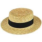 Hawkins - cinta Strohut de color negro para hombre sombrero de verano