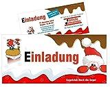 Einladungen zur Weihnachtsfeier xmas Party Nikolausfeier Tannenbaumfeier, lustige witzige Karten, Text änderbar, 90 Stück, Größe 21 x 9,9 cm