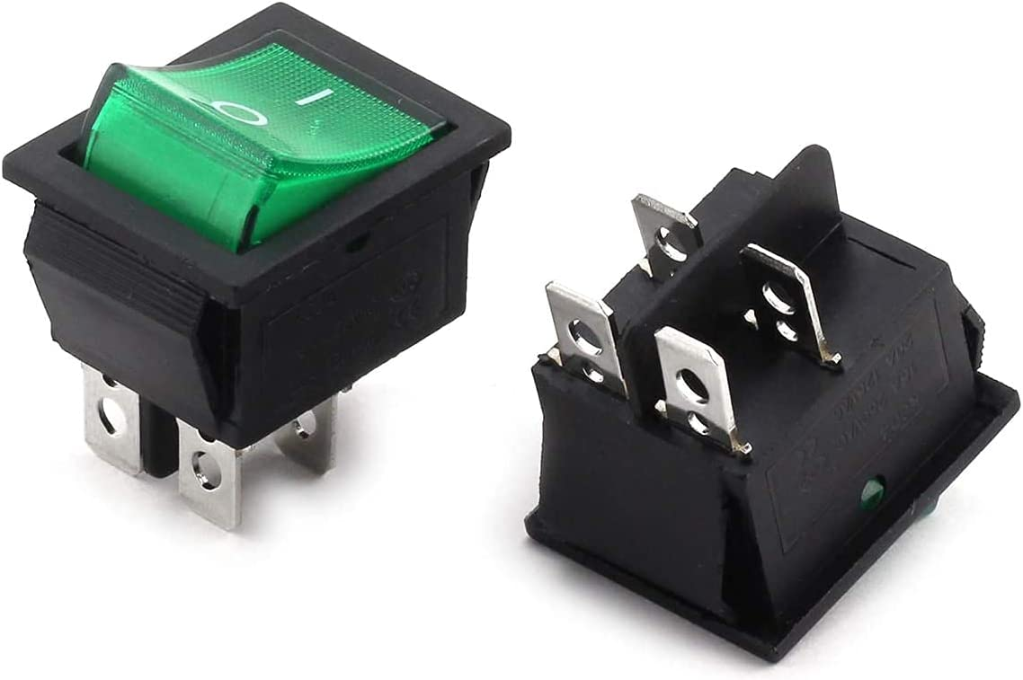 Longdex 2pcs AC New Free Shipping 250V Raleigh Mall 16A ON Switch Applian Small Rocker OFF Boat