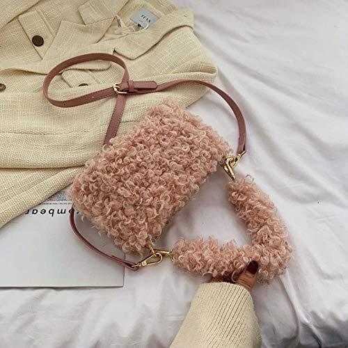 2020 Winter nieuwe bonttas vrouwen schattige bont boodschappentas mode solide handtas dames schoudertas verstelbare riem