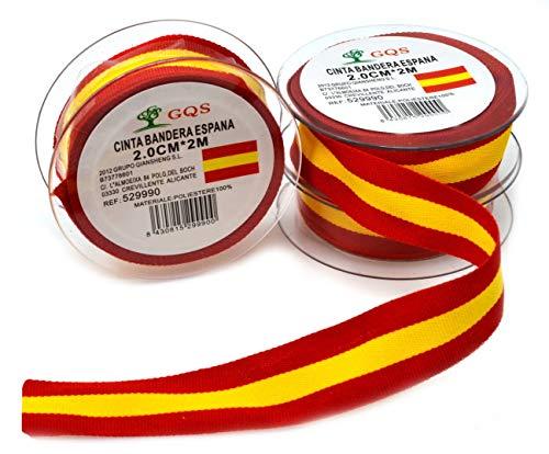 6 metros x 20 mm Cinta española 2 cm Cinta Cinta de españa cinta de españa Pulseras Bandera España Corbatas Bandera de españa Colores españoles