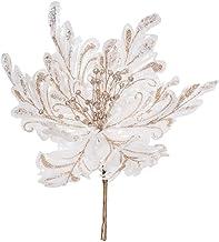 """Vickerman 551257-17"""" White Poinsettia 14"""" Flower 3/Bg (OF180101) Home Office Flowers"""