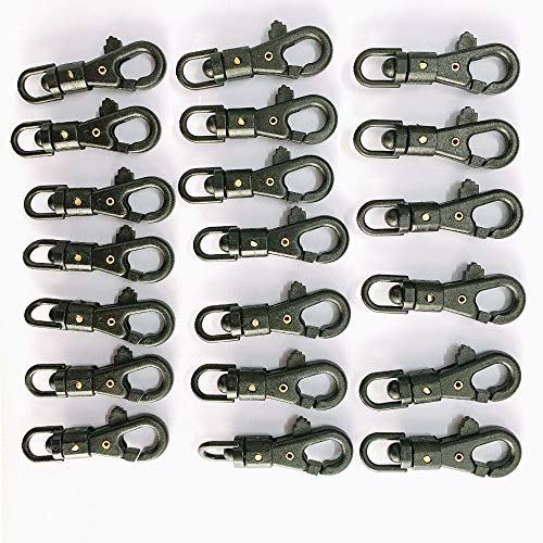 20er Set Karabiner Haken mit Drehgelenk,Mini 360-Grad-Dreh-Kletterkarabiner-Clip hängen Schnalle Haken Schnellverschluss Schlüsselbund for Outdoor-Klettern Survival Tool