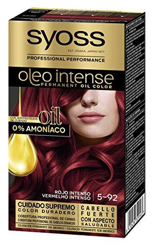 SYOSS - Oleo Intense Coloración Permanente Sin Amoníaco  - Tono 5.92 Rojo Intenso