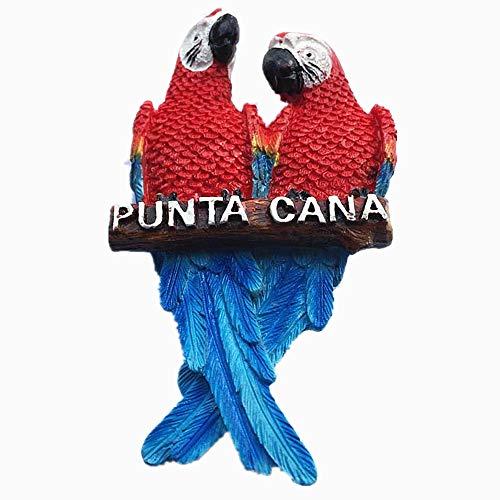 MUYU Magnet 3D Pfau von Punta Cana Dominica Souvenir Kühlschrankmagnet, Home & Kitchen Dekoration, magnetischer Aufkleber, Dominikanische Punta Cana Kühlschrankmagnet Reise Souvenir Geschenk