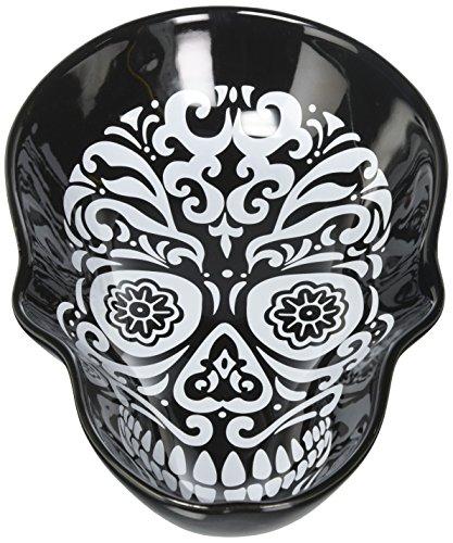 "Sagaform Skull Head Bowl, 6.7"" x 10.45"" x 2.36"", Black"