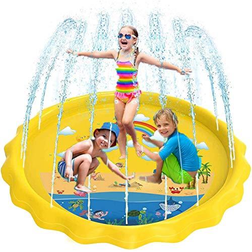 Juego de Salpicaduras y Salpicaduras, 170 cm Piscina Para Niños, PVC Splash Play Mat Almohadilla de Juego de Agua Para Niños Para Jardín de Verano Juguetes Acuático Actividades Familiares (#3)