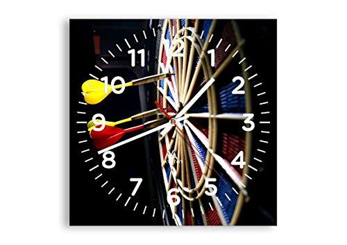 Wanduhr - Quadrat - Glasuhr - Breite: 30cm, Höhe: 30cm - Bildnummer 2199 - Schleichendes Uhrwerk - lautlos - zum Aufhängen bereit - Kunstdruck - C4AC30x30-2199