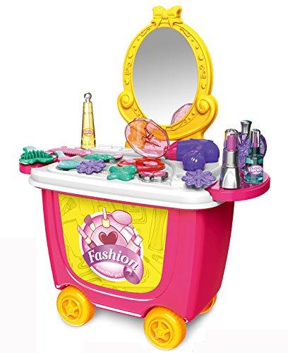♛ rollbarer juguete tocador con espejo y accesorios ♛