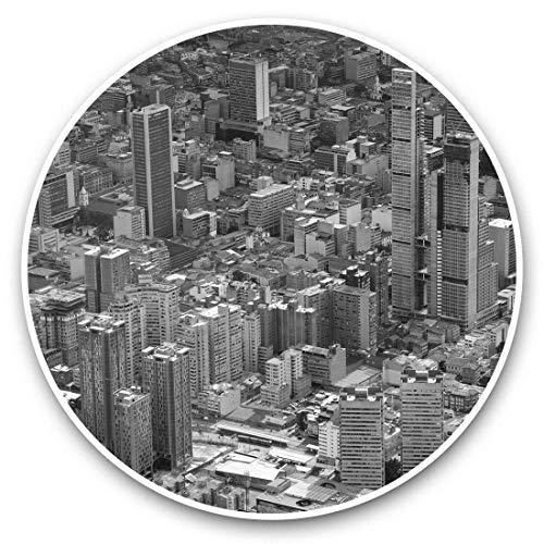 Impresionantes pegatinas de vinilo (juego de 2) 30 cm BW – Bogotá Colombia City Cityscape Fun Decals para portátiles, tabletas, equipaje, reserva de chatarras, frigoríficos, regalo fresco #42612