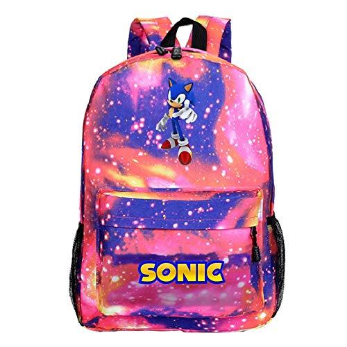 regalo para Mochila sónica, mochila escolar con dibujos animados, mochila escolar para niños y niñas, mochila para ordenador portátil con patrón Popular de moda para adolescentes