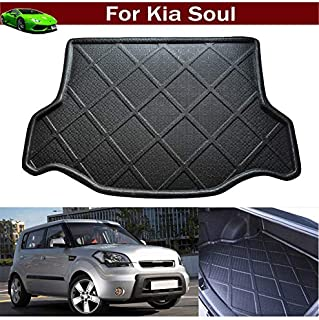 Car Mat Boot Pad Liner Cargo Mat Tray Trunk Floor Cargo Liner Rear Trunk Cover for Kia Soul 2011 2012 2013 2014 2015 2016 2017 2018 2019 2020