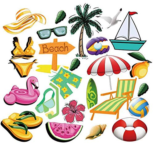 HENJIA Summer Surfing Stickers Beach Travel Graffiti Surf Sticker Diy For Surfboard Laptop Luggage Bicycle Tablet Water Bottle50Pcs