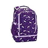 Bentgo Kids Prints 2-in-1 Backpack & Insulated Lunch Bag - Durable, Lightweight, Colorful Prints for Girls and Boys, Water-Resistant Fabric, Padded Straps and Back with Large Compartments (Unicorn)