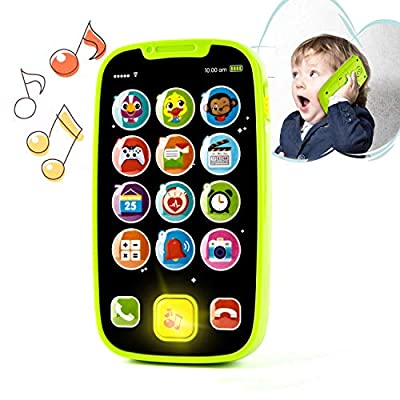 Kidpal Baby Toy Phone for 1 2 Year Old with Light, Music  My First Smartphone Toy for Baby 8M 12M 16M 24M+ Toddler Cell Phone   Educational Call & Chat Learning Play Phone Toy for Role-Play Fun by KidPal