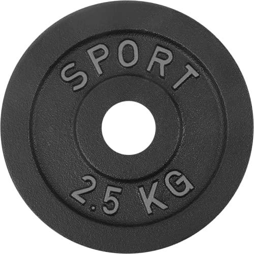 AtHaus® Hantelscheiben Gusseisen Hantel Gewichte 30mm Ø - 2,5 kg Guss Scheiben Gusscheibe Hantelscheibe Platte Rad Pro