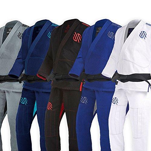 Sanabul Essentials V.2 Ultra Light Pre Shrunk BJJ Jiu Jitsu Gi (A3, White) See Special Sizing Guide